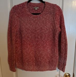 Lucky Brand Knit Crewneck Sweater (Marled Red)